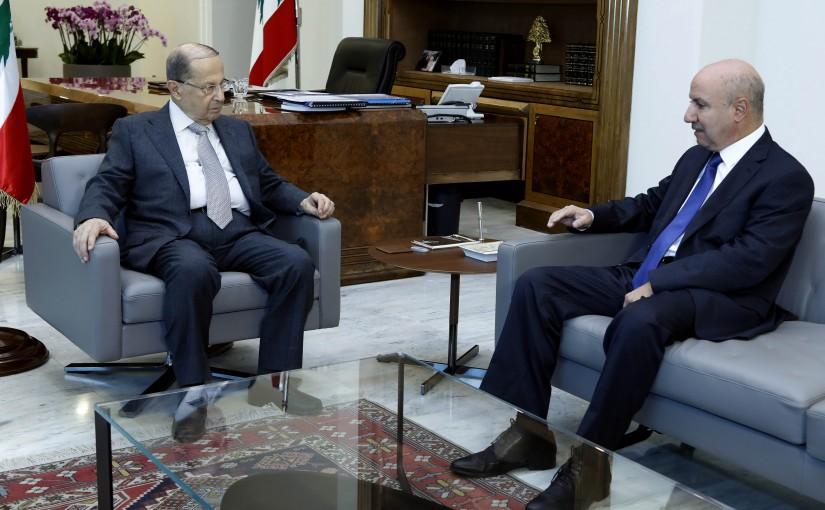 President Michel  Aoun meets Lebanese Ambassador to Guinea Fady Zein.