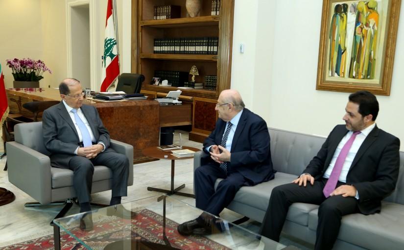 President Michel Aoun meets MP Neematallah Abi Nasr.