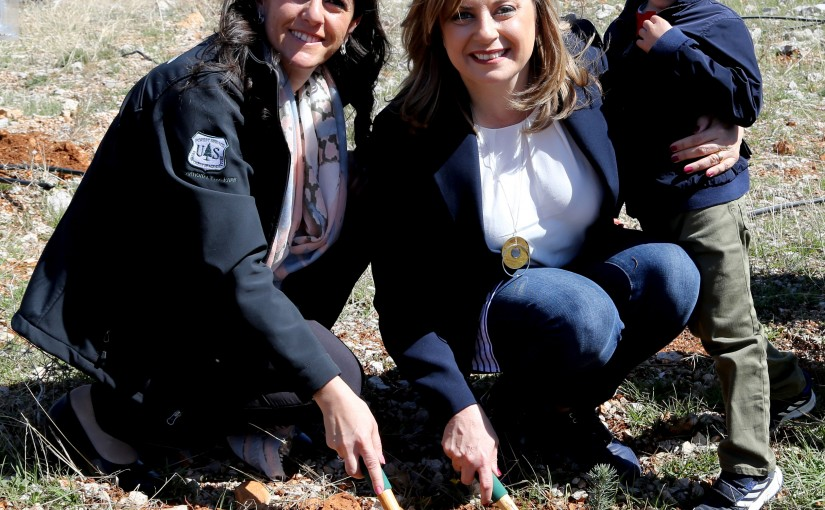 Mrs. Claudine Roukoz on the occasion of international women's day. Forestry project (LRI).