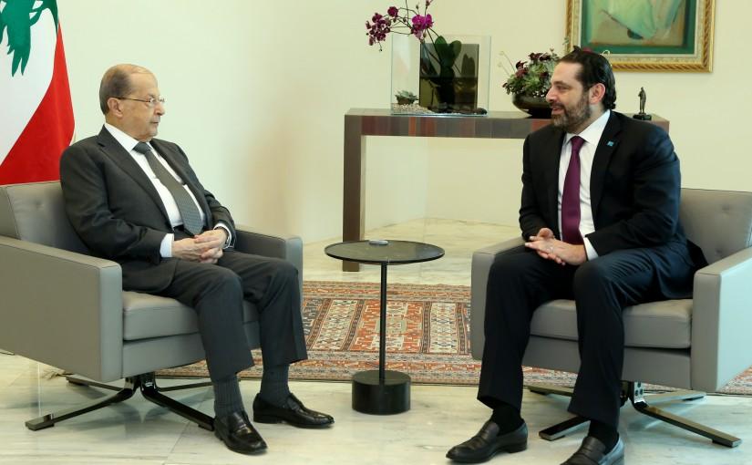 President Michel Aoun meets Pr Minister Saad Hariri.