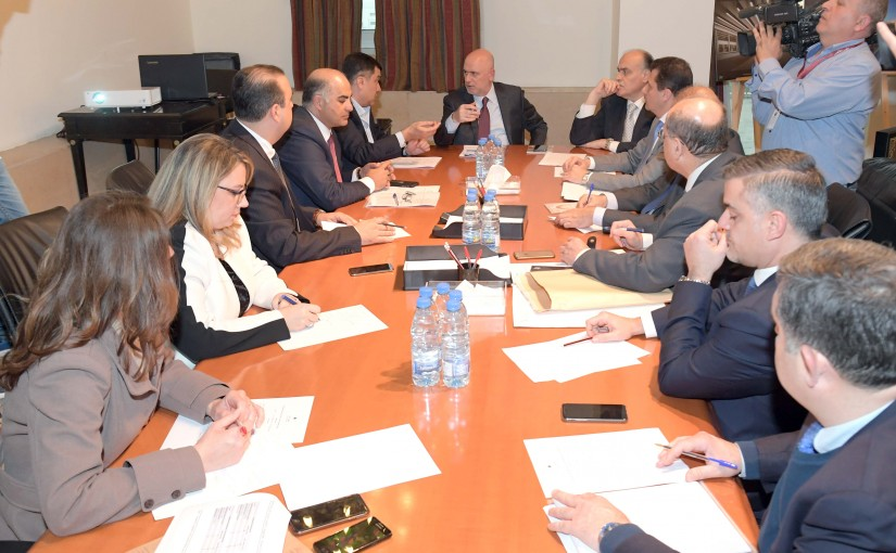 Meeting for Minister Youssef Fenianos at the Grand Serail