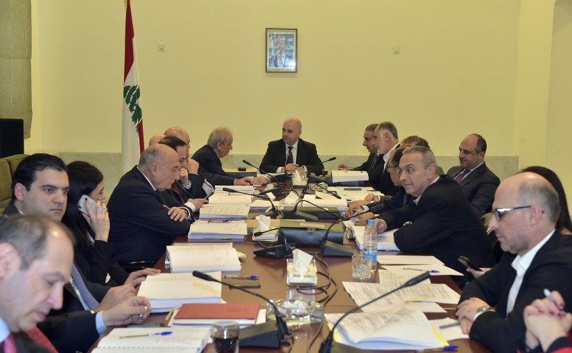 Minister Ghassan Hassbani Heading a Ministerial Council
