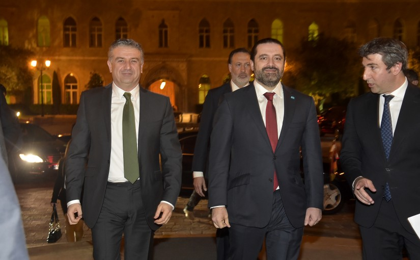 Diner Hosted by Pr Minister Saad Hariri in Honors of Armenian Pr Minister