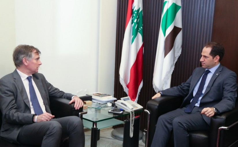 MP Sami Gemayel Meets British Ambassador