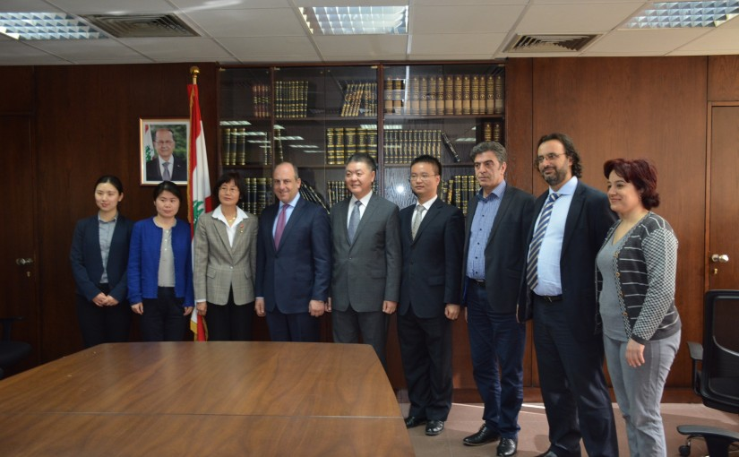 Minister Pierre Abi Assi meets Chinese Ambassador