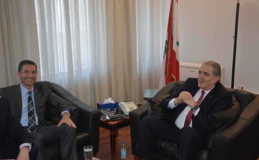 Minister Selim Jraysati meets a Poland Delegation
