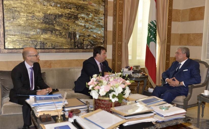 Minister Nouhad El Machnouk Meets French Ambassador