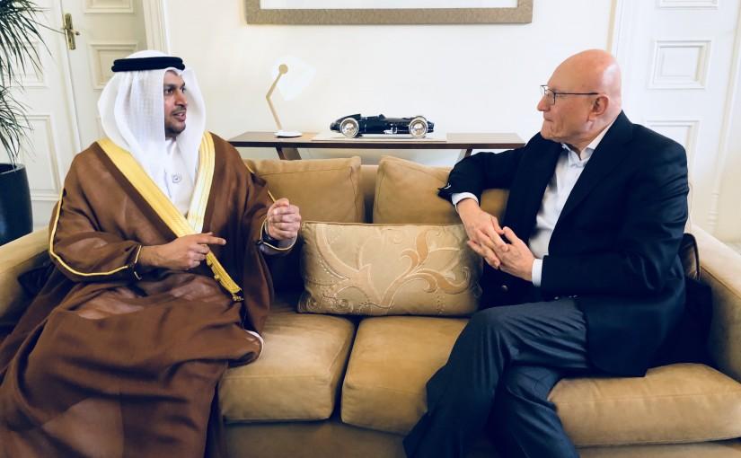 Former Pr Minister Tammam Salam meets Emirates Ambassador