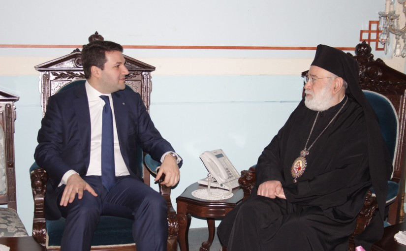 Bishop Elias Audi meets MP Nadim  Gemayel