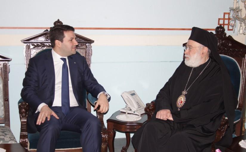 Bishop Elias Audi meets MP Nadim  Gemayel