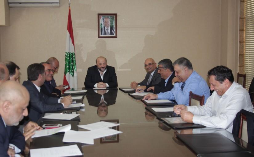 Press Conferences for Minister Melhem Riachi