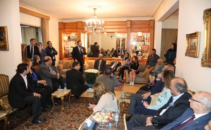 Pr Minister Saad Hariri Visits el Hassbini Family