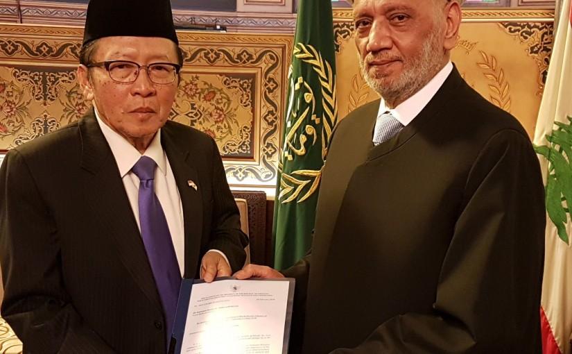 Mufti Abdel Latif Derian Meets Indonesian Ambassador