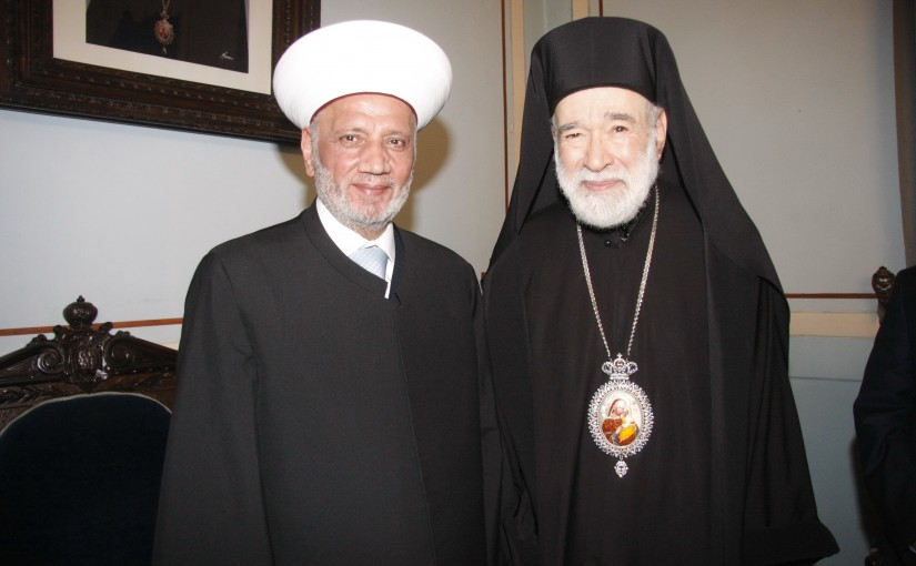 Bishop Elias Audi meets Mufti Abdel Latif Derian