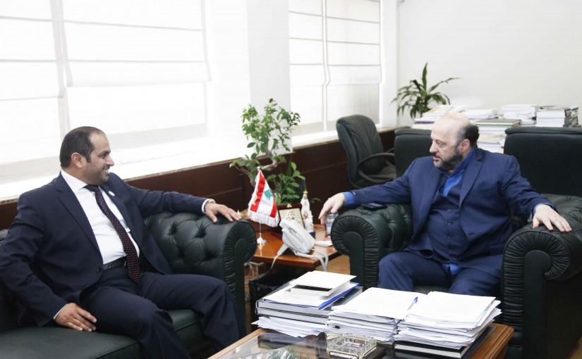 Minister Melhem Riachi meets Emirates Ambassador