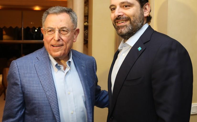 Former Pr Minister Fouad Siniora meets Pr Minister Saad Hariri