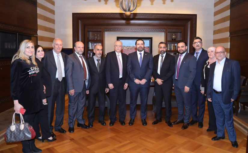 Pr Minister Saad Hariri meets a Delegation from El Barbour Traders