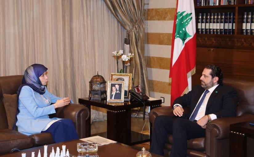 Pr Minister Saad Hariri meets Minister Inaya Ezelldine