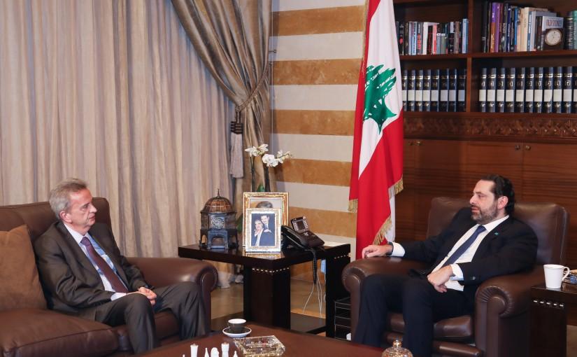 Pr Minister Saad Hariri meets Mr Riyad Salame