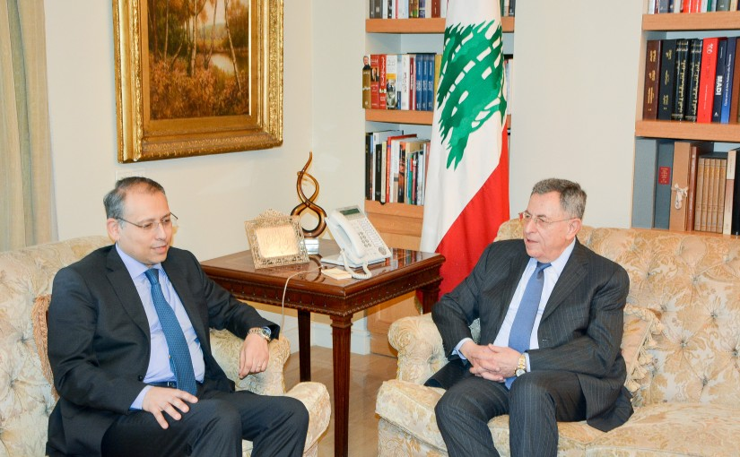 Former Pr Minister Fouad Siniora meets meets Egyptian Ambassador
