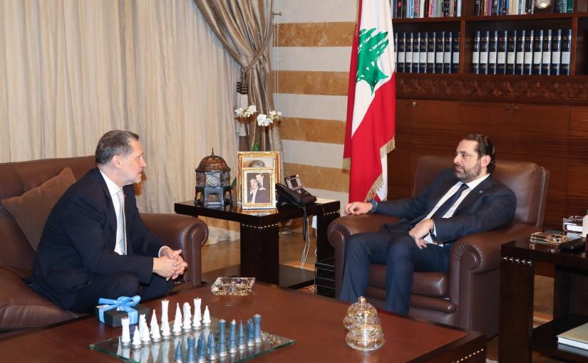 Pr. Minister Saad Hariri meets Greek ambassador