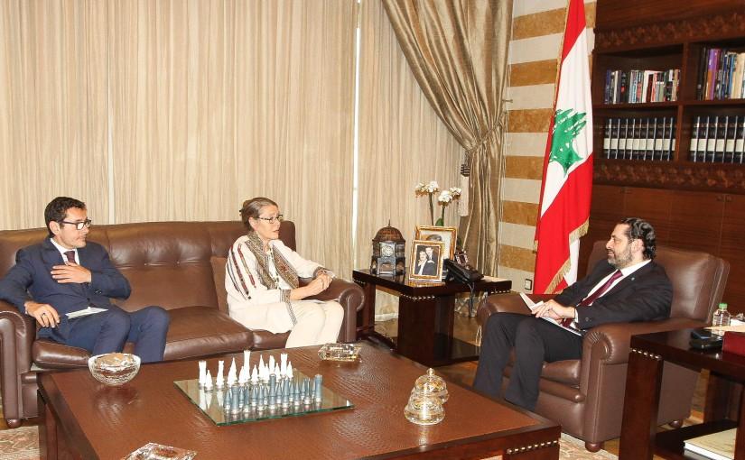 Pr Minister Saad Hariri meets Mrs  Kardell Pernil