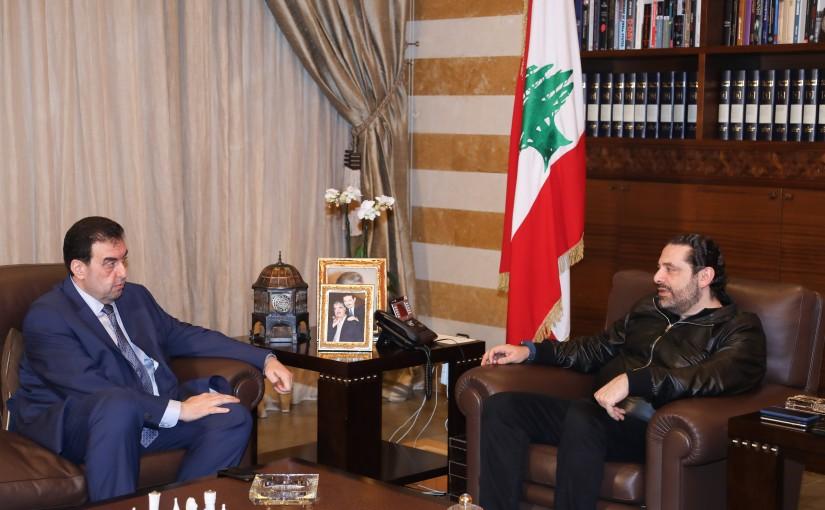 Pr Minister Saad Hariri meets Mr Walid Baarini