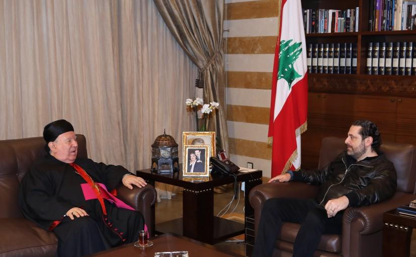 Pr Minister Saad Hariri meets Bishop Boulos Matar