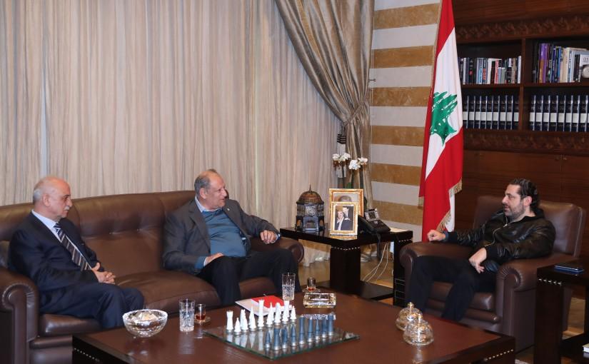 Pr Minister Saad Hariri meets Minister Jamal Jarah