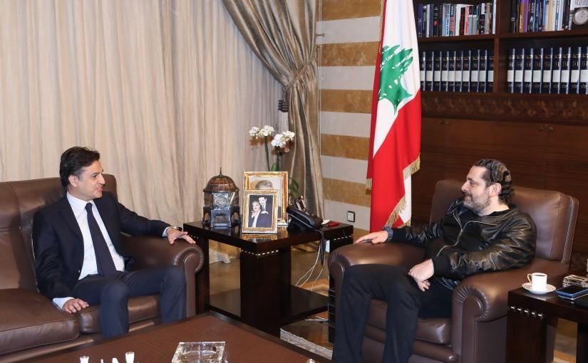 Pr Minister Saad Hariri meets Mr Walid Maalouly