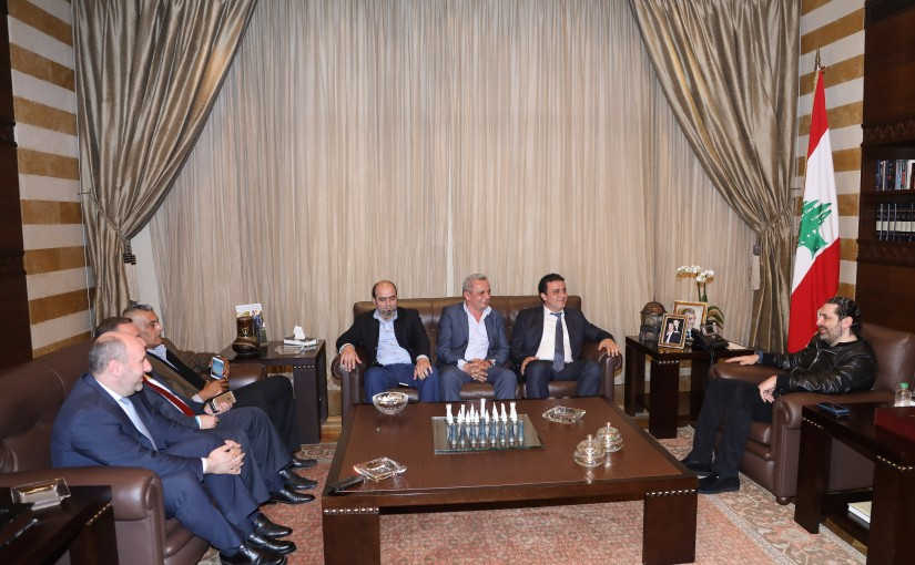 Pr Minister Saad Hariri meets Mr Elie Did with a Delegation