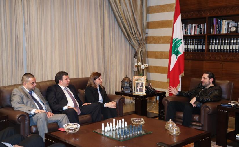 Pr Minister Saad Hariri meets Mrs Samar Bitar