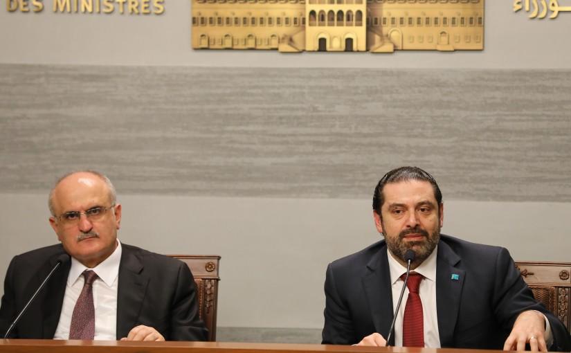 Press Conference for Pr Minister Saad Hariri