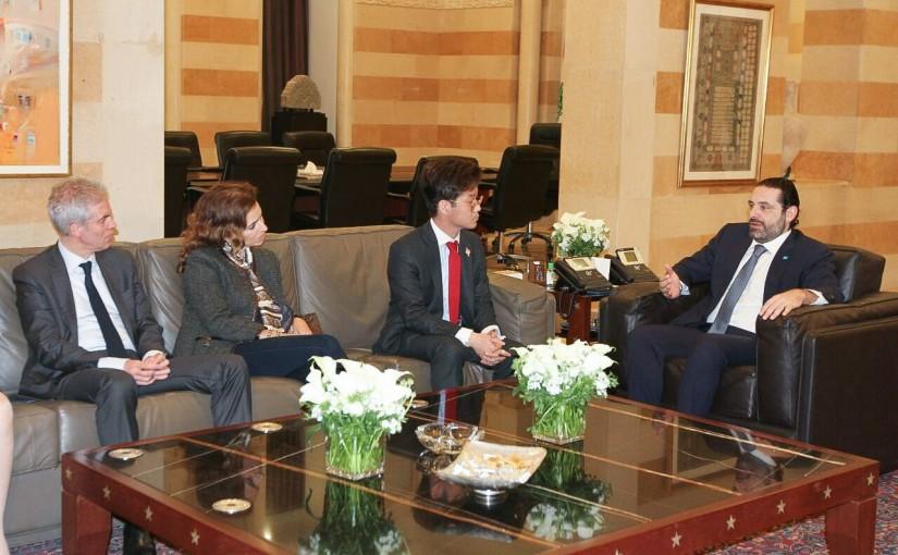 Pr Minister Saad Hariri meets a French Delegation
