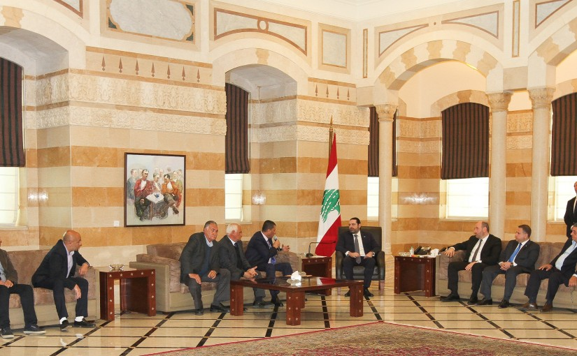 Pr Minister Saad Hariri meets a Delegation of Lebanese Farmers