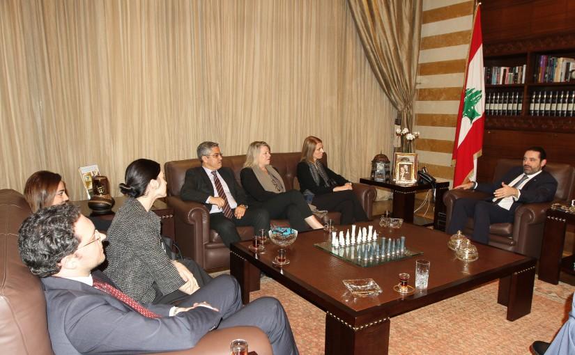 Pr Minister Saad Hariri meets a NDI Delegation