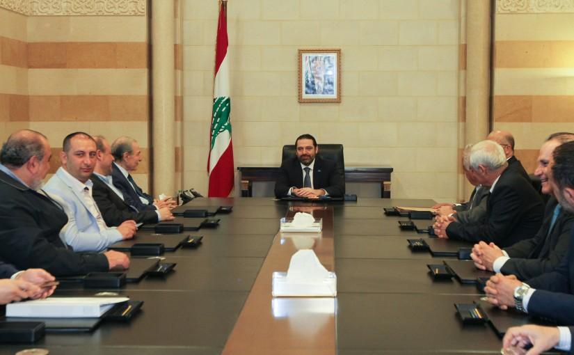 Pr Minister Saad Hariri meets Former Minister Anwar Khalil with a Delegation