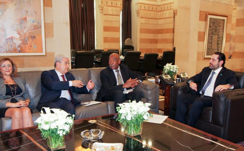 Pr Minister Saad Hariri meets Mr Ayman Choucair with a Delegation