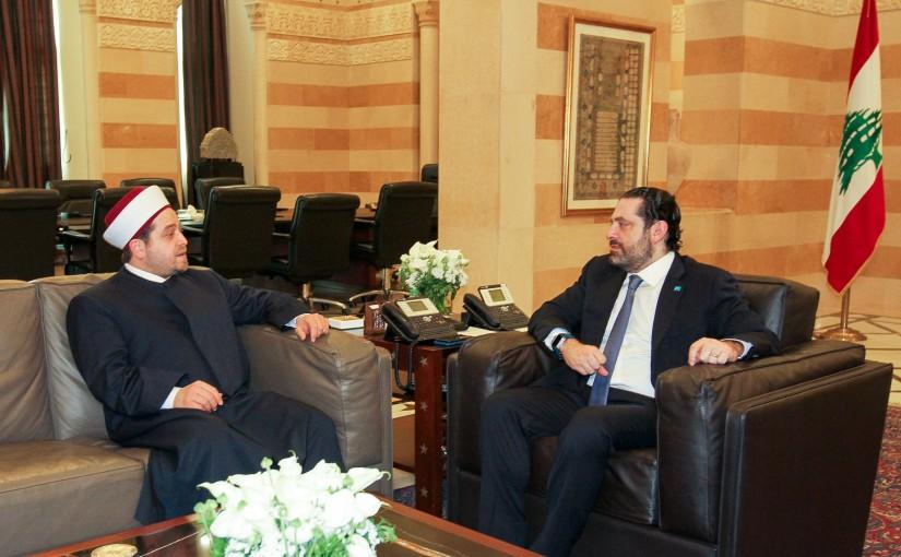 Pr Minister Saad Hariri meets Mufti Moudrar Helab