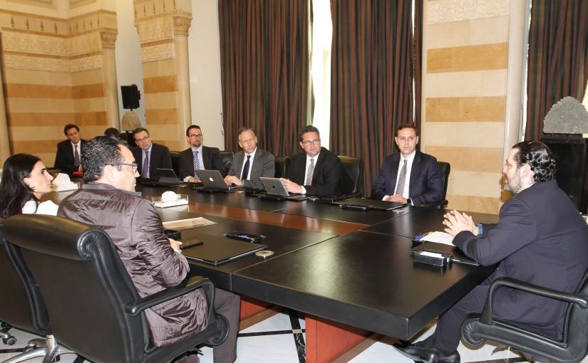 Pr Minister Saad Hariri meets a Delegation from Lebanese Businessman