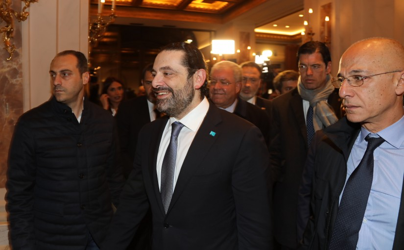 Pr Minister Saad Hariri meets Arrived at Rome
