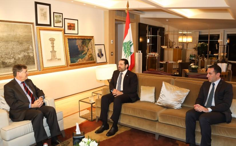 Pr Minister Saad Hariri meets Mr David Saterfield