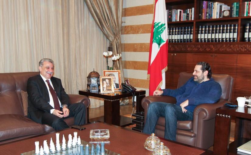 Pr Minister Saad Hariri meets MP Nedal Tohme