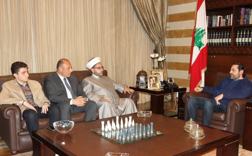 Pr Minister Saad Hariri meets Mr Amer el Mayess