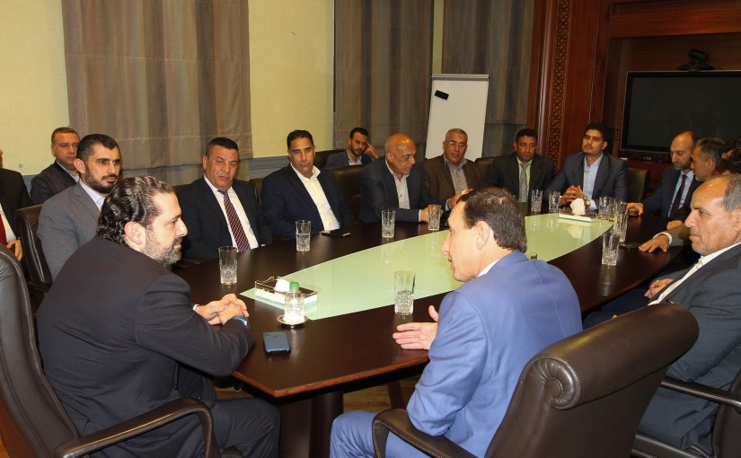 Pr Minister Saad Hariri meets Mr Mustapha el Ali with a Delegation
