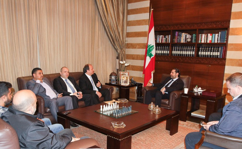 Pr Minister Saad Hariri meets Mr Jamal Jneid with a Delegation