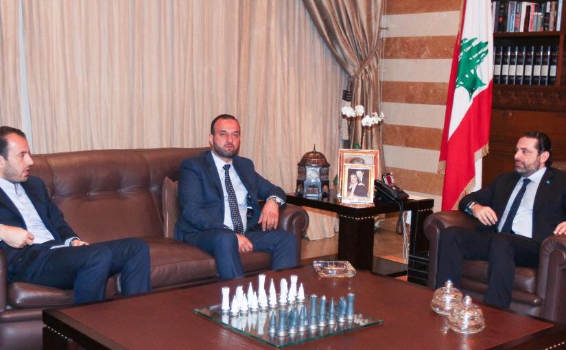 Pr Minister Saad Hariri meets MP Ziad El Kadri with a Delegation