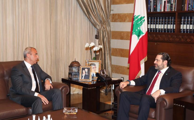 Pr Minister Saad Hariri meets Mr Nabil Miaad