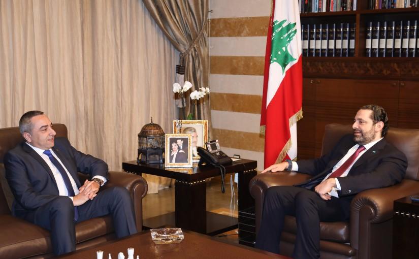 Pr Minister Saad Hariri meets Mr Nabil El Halabi