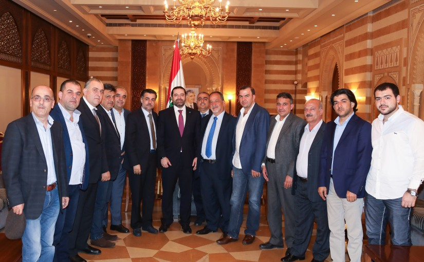 Pr Minister Saad Hariri meets Mr Abdel Azizi Samad